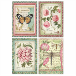 Rice Paper - Decoupage - 1 x A4 Size Sheet - Flower Cards