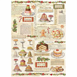 Rice Paper - Decoupage - 1 x A4 Size Sheet - Vintage Christmas