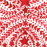 4 Paper Napkins - High Quality 3 PLY for Decoupage - Red Christmas Garland