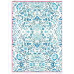 Rice Paper - Decoupage - 1 x A4 Size Sheet - Blue Flower Pattern