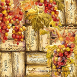 4 Paper Napkins - High Quality 3 PLY for Decoupage - Corks and Grapes