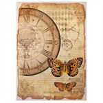 Rice Paper - Decoupage - 1 x A4 Size Sheet - Mix Media Clock