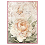 Rice Paper - Decoupage - 1 x A4 Size Sheet - Vintage Rose