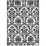 Rice Paper - Decoupage - 1 x A4 Size Sheet - Black Damask
