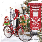 4 Paper Napkins - High Quality 3 PLY for Decoupage - Snow Bike