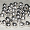 Silver tone round spacers 6mm, 40 pcs pack