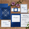 Beautiful Cobalt Blue Hindu Wedding Cards