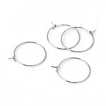 30 Stainless Steel Hoop Earring  Findings -  23mm