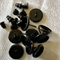 10 Black 10mm Cabochon Settings Earring Post