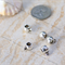 10 silver tone smooth plain bail bails for cord, chain, charms 10x7mm