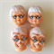 Small Santa and Mrs. Clause Plastic Heads - 4