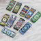18 Rectangle Glass Cabochons 25mm x 10mm