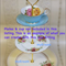 3 tier Cake Stand Fitting with longer 20mm thread to accommodate a cup and sauce