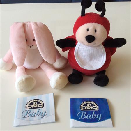 DMC Soft Baby Toy with Aida Bib