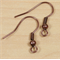 20 Copper Earring Wires 