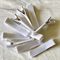 10 Covered Grosgrain Hair Clips - White