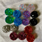 16 Resin 12mm Sparkling Druzy Cabochons 8 Colours