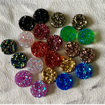22 Resin 12mm Sparkling Druzy Cabochons -11Colours