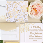 Light Yellow Modern Indian Wedding Invitation