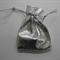 Bulk Buy quantity 190 Silver Drawstring Goodies Bags