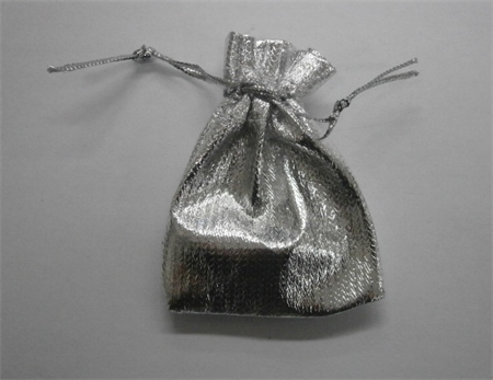 Bulk Buy quantity 190 Silver Drawstring Goodies Bags