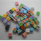 Bulk Buy Bag 250 count Multi coloured Cube Bead approx 8mm