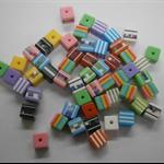 Bulk Buy Bag 250 count Multi coloured Cube Bead approx 8mm