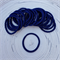 25 x Thick Navy Blue Hair Ties/Elastics