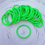 25 x Thick Bright Green Hair Ties/Elastics