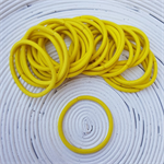 25 x Thick Yellow Hair Ties/Elastics