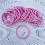 25 x Thick Pale Pink Hair Ties/Elastics