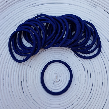 25 x Thick Navy Blue Hair Ties/Elastics