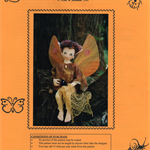 SOFT SCULPTED DOLL Pattern, Elf Fairy, Kid n Round, Ann Clemens, Craft Destash