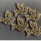 4 Antique Bronze' Peace Doves Charm Pendants