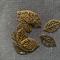 10 Charm Pendants Antique Bronze Leaves
