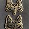 2  Gorgeous Silver Fox Pendants