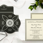 BLACK BUTTERFLY THEMED - SCREEN PRINTED WEDDING INVITATION