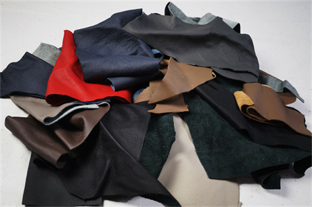 Mix Upholstery leather scraps