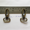 2 x Antique Bronze swivel snap hooks
