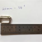 Silver Tri-Glides 20mm - 3/4 inch