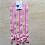 3 x Pink 6 inch Dress zippers