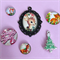 Christmas Theme Cameo Charm Set