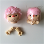 2 x Large Doll Heads and Hands + Patterns