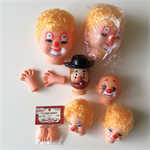 6 Clown Heads and 2 sets of hands + Patterns