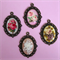 Handmade Vintage Rose Cameo Set x4