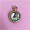 Easter Bunny Cameo Gold Pocket Watch Charm