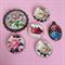 Vintage Rose Cameo Charm set