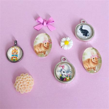 Handmade Easter Charm Set
