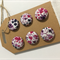 LIBERTY LONDON Tana Lawn covered Buttons, 15mm diameter, Pheobe Purple Lilac