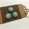 LIBERTY LONDON Tana Lawn covered Buttons, 15mm diameter, Capel Turquoise